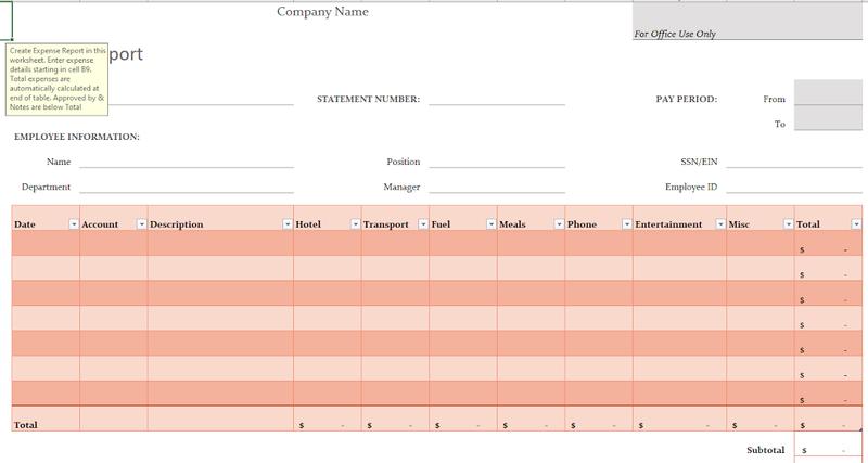 Microsoft Excel spreadsheet