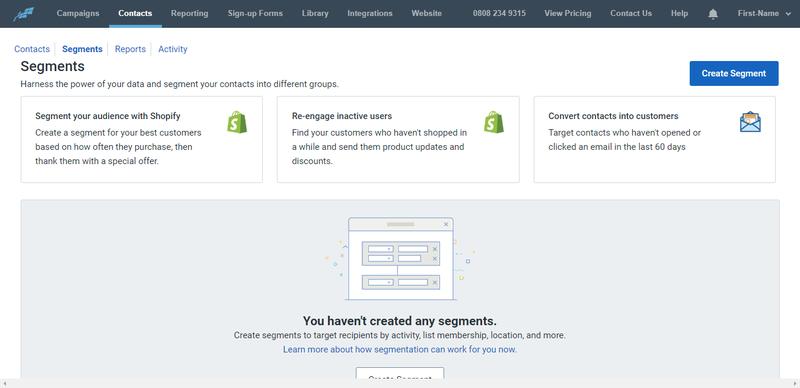 Constant Contact Segments second Screenshot