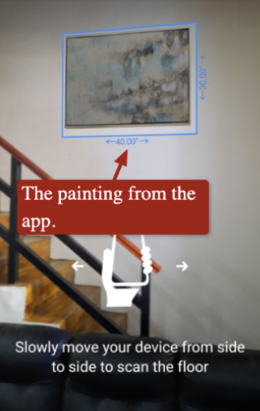 Houzz AR feature at a glance.