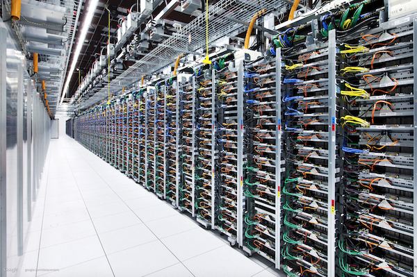 A third-party data center is composed of hundreds or even thousands of servers to securely store digital information.