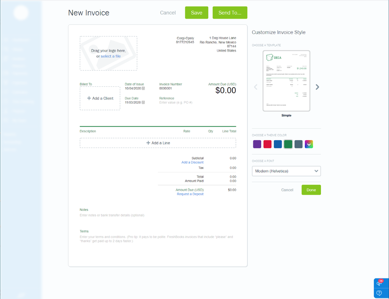 How To Create A Freshbooks Invoice A Step By Step Guide The Blueprint