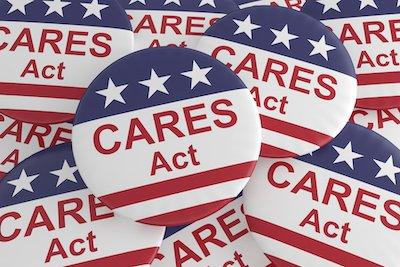 Coronavirus Aid, Relief, And Economic Security Act Badges.