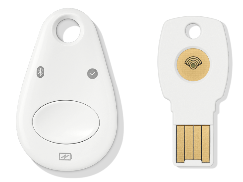 Two different Titan Security Keys are shown side by side.