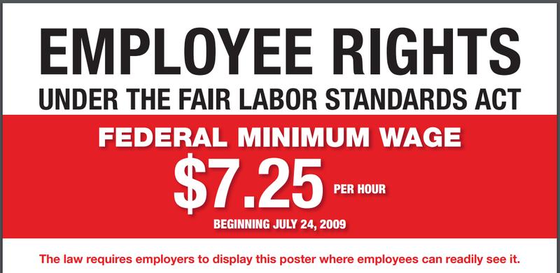 Screenshot of DOL's FLSA poster
