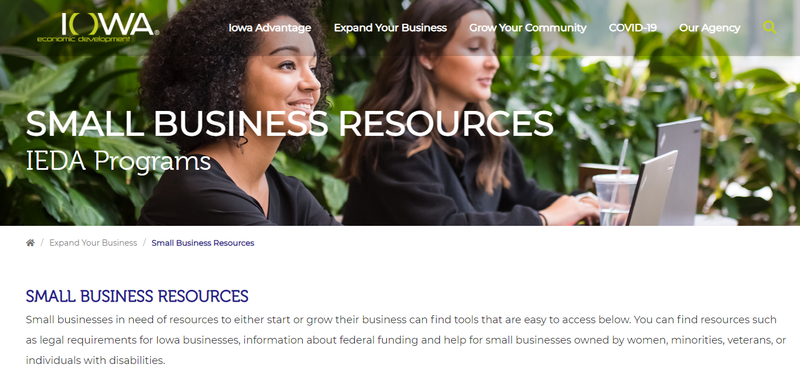 Iowa's small business resources website.