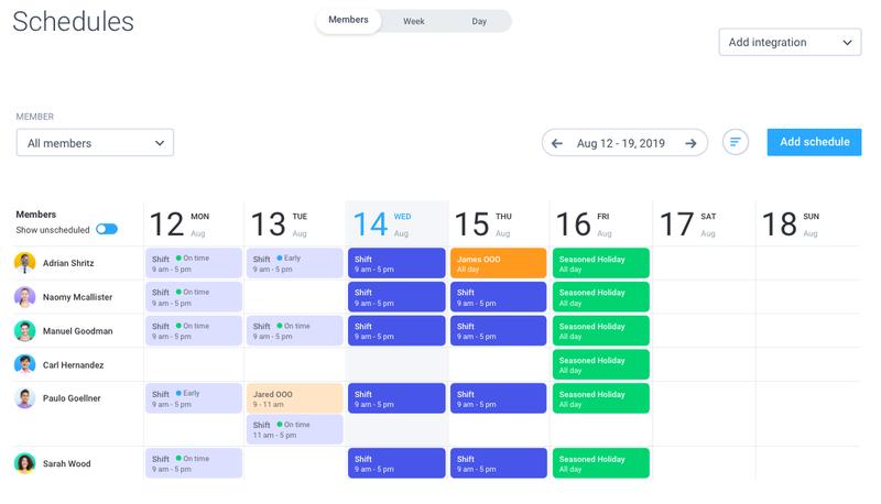 Hubstaff Schedule