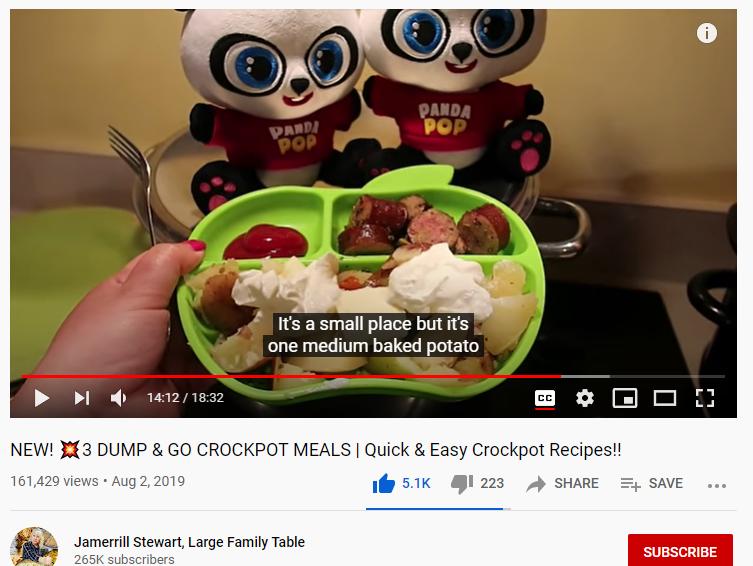 Screenshot of Panda Pop video sponsored on Jamerrill Stewart's YouTube channel.