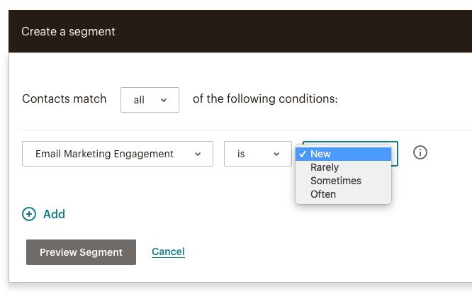 Mailchimp's Create Segment Tool