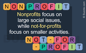 Graphic explaining the difference between nonprofit and not-for-profit
