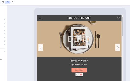 Screenshot of BigCommerce Demo Site
