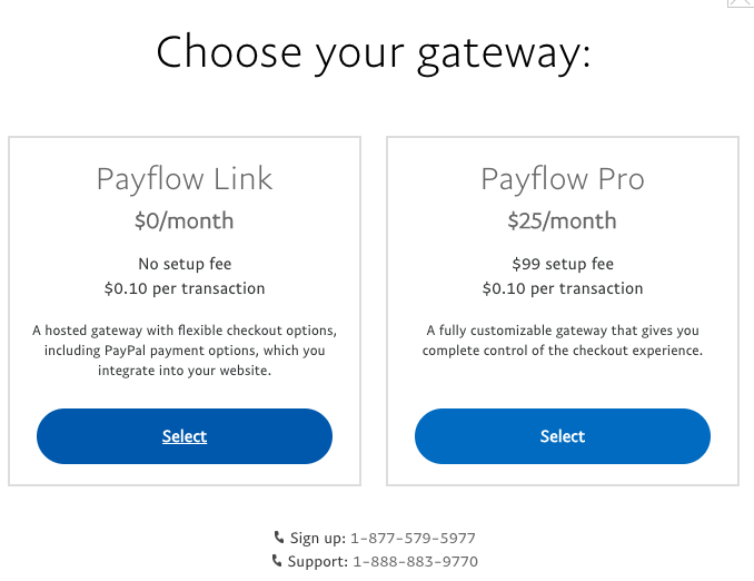 The pricing and feature differences between Payflow Link and Payflow Pro.