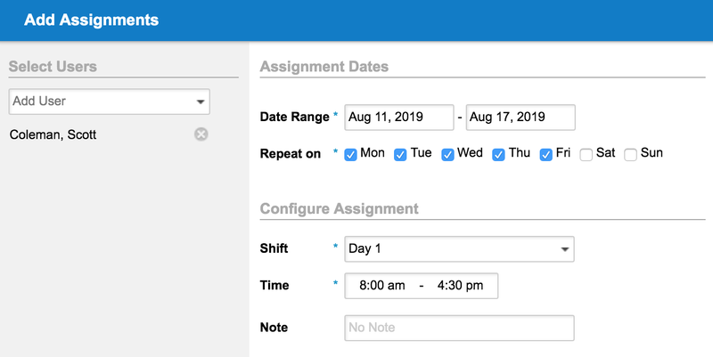 Replicon Add Employee Schedule