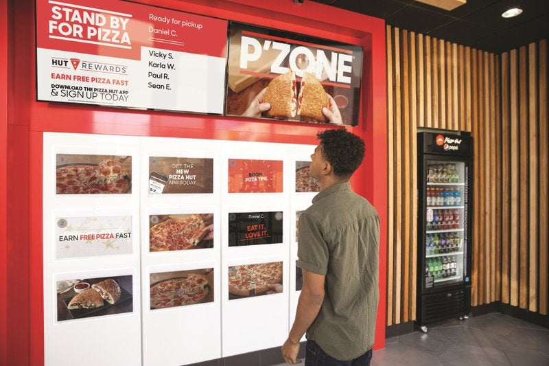 Pizza Hut's contactless pizza pickup concept.
