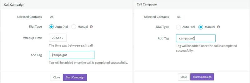 Screenshot of Agile CRM interface