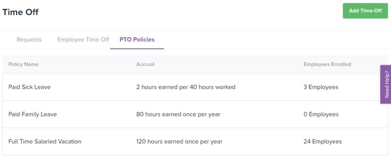 Homebase PTO Tracking