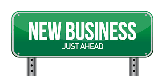 New Business Just Ahead on signpost.