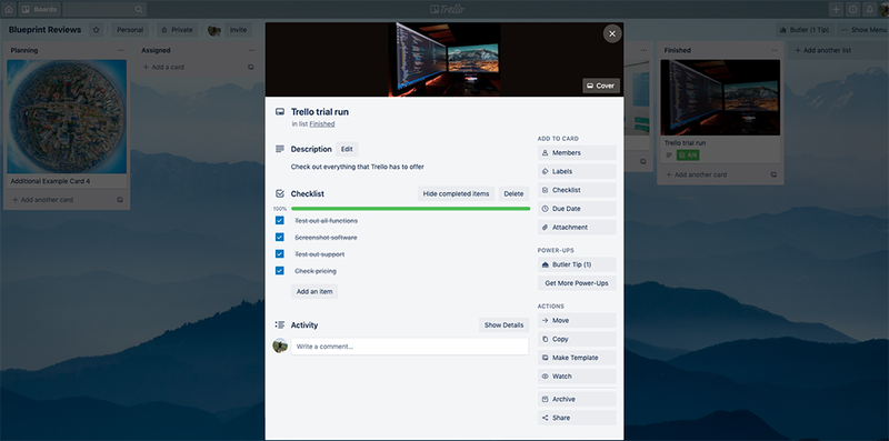 Trello project cards contain all of the information you need for each project.