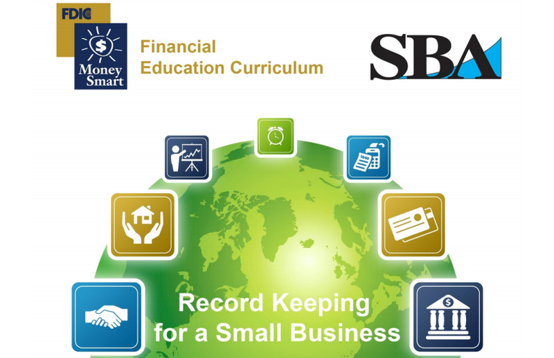 Screenshot of the SBA's small business record keeping guide.