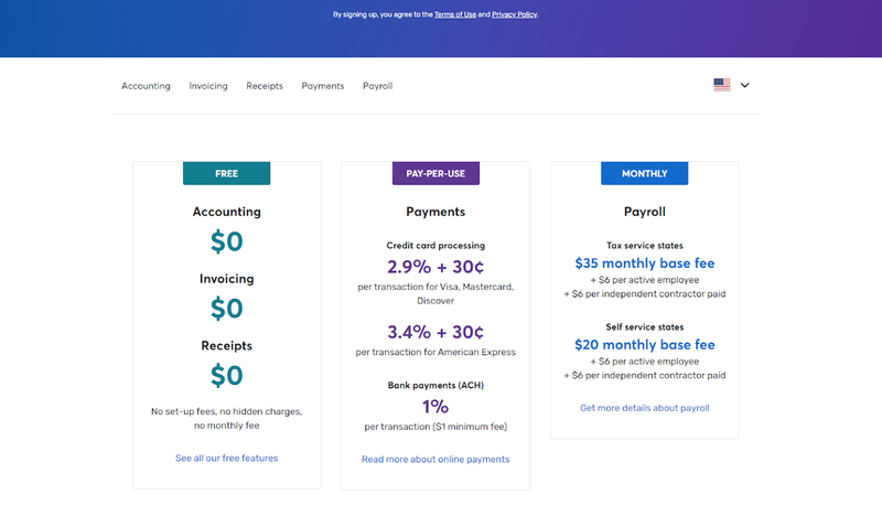 A screenshot of Wave's pricing for payments and payroll services.