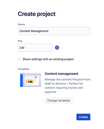 Jira makes it easy to create a content management project board.