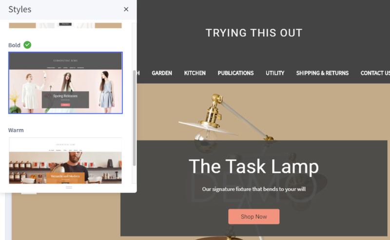 Screenshot of BigCommerce theme customization