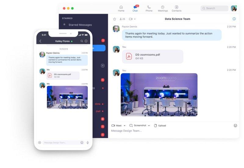 Zoom Meetings chat function