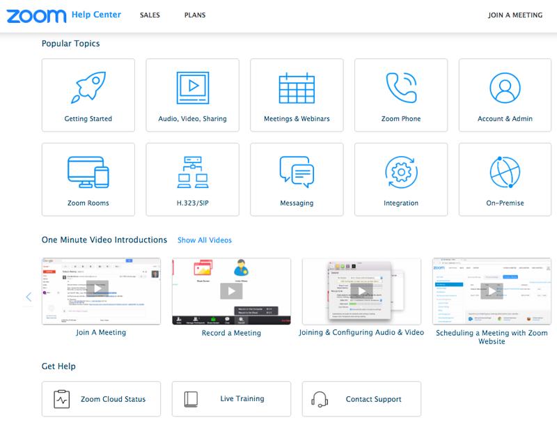 Zoom Meetings Dashboard