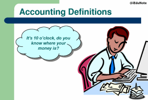 Graphic of an accountant with a calculator
