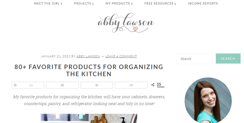 A post from Abby Lawson's blog, which is called Just a Girl and Her Blog.