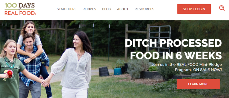 The 100 Days of Real Food website.