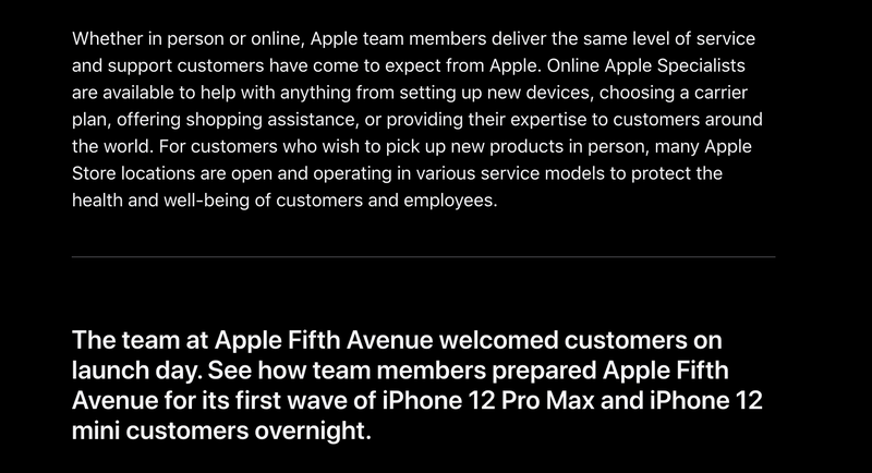 Press release on Apple Iphone 12