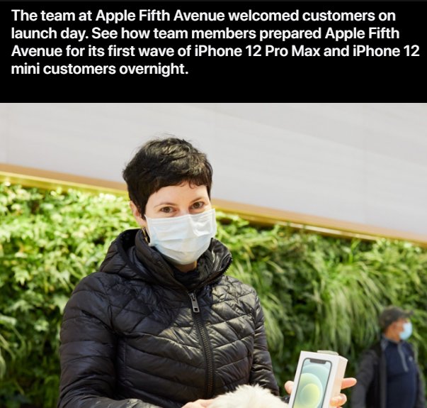 Customer waiting overnight at Apple Fifth Avenue