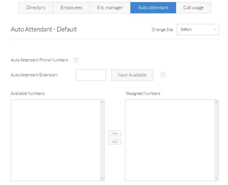 A screenshot of Nextiva's Auto Attendant feature.