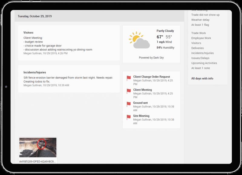 CoConstruct's job site interface