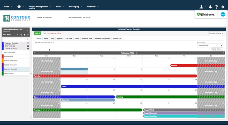 Buildertrend's calendar feature