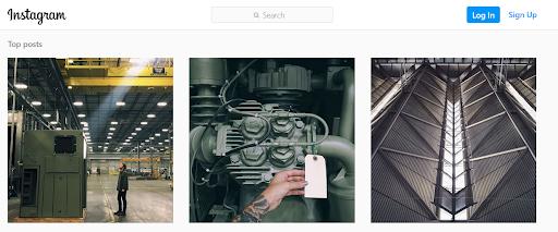 Instagram Example of Top Posts