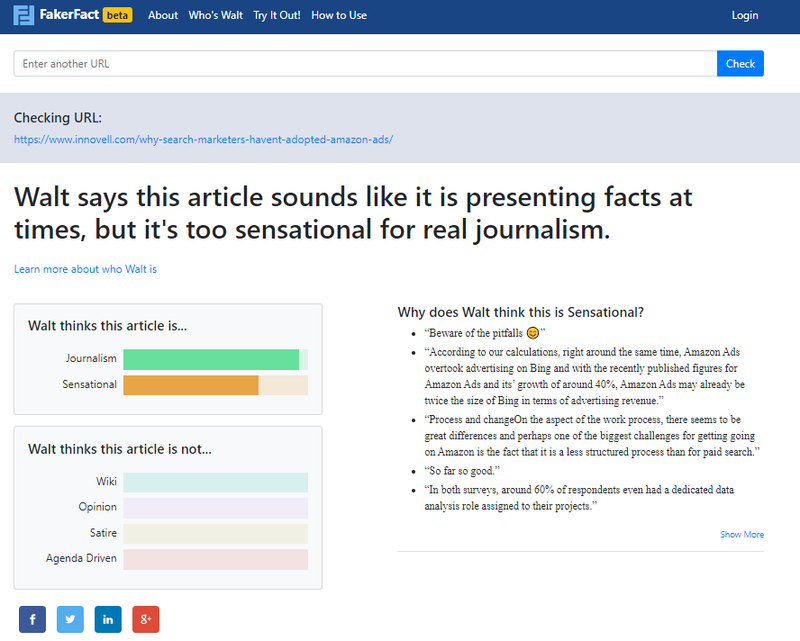 Walt uses artificial intelligence to analyze any article