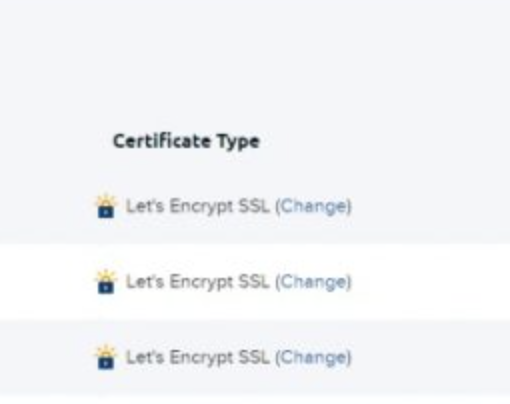 The section to get the SSL site certificates.