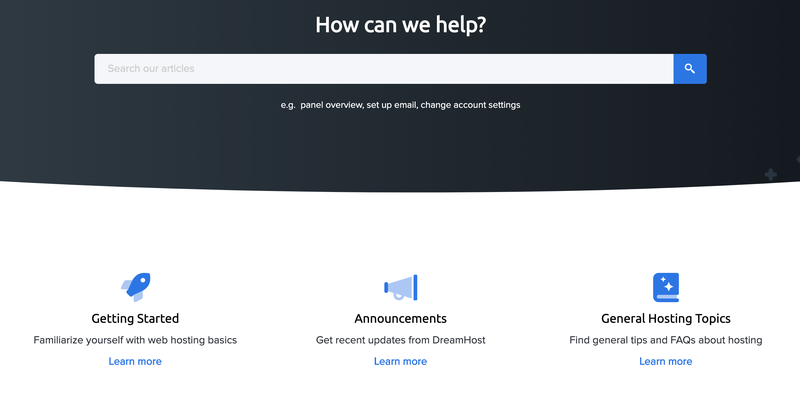DreamHost's knowledge base for troubleshooting.