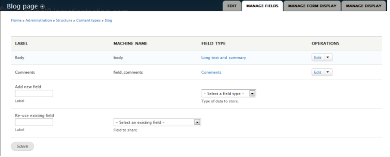 Commenting options in Drupal with fields to fill in from drop-down options.