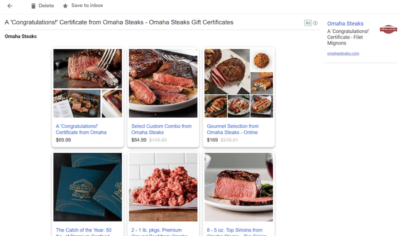 Omaha Steaks discount offers