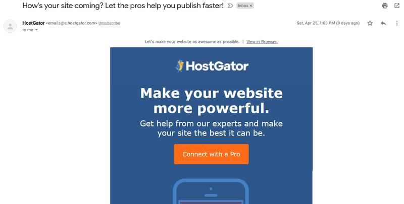 HostGator retargeting ads