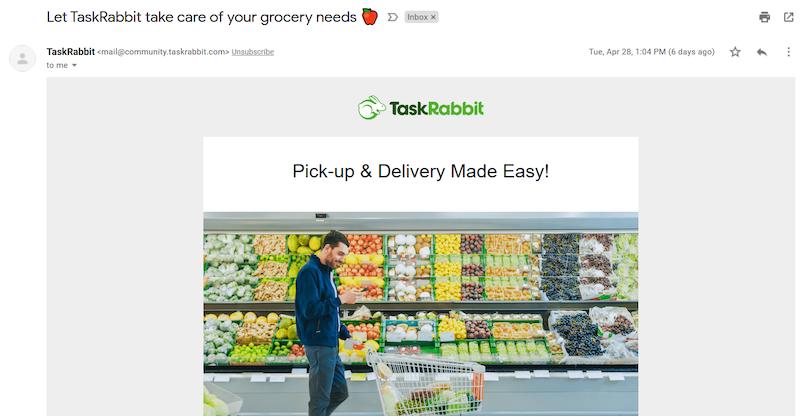 TaskRabbit offer