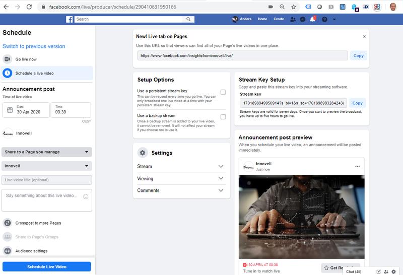 Facebook Live Producer Dashboard