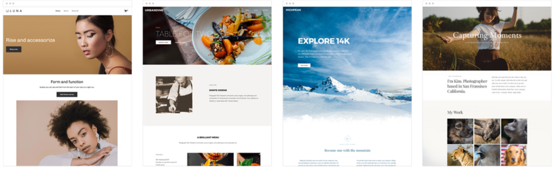 A selection of Weebly theme options.