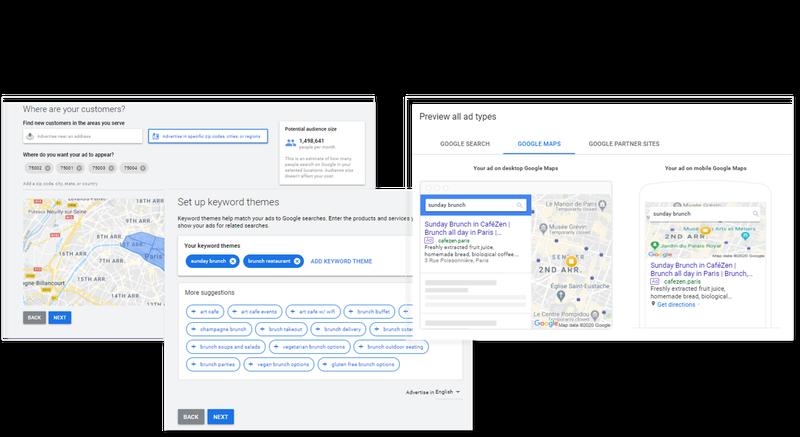 Three views of a Smart campaign setup.