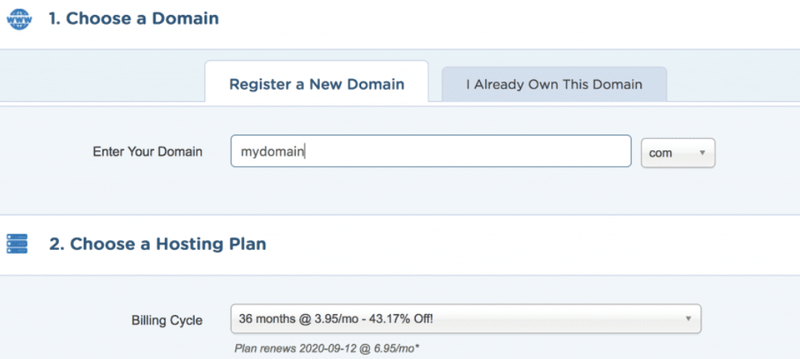 The page for transferring or adding a domain through HostGator.