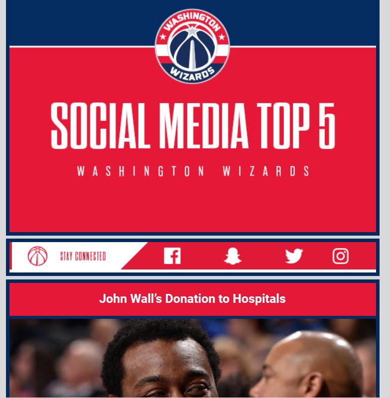 Washington Wizards Email Newsletter