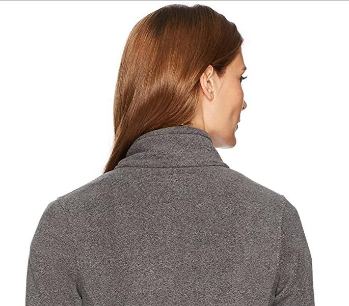The back image of a fleece jacket.