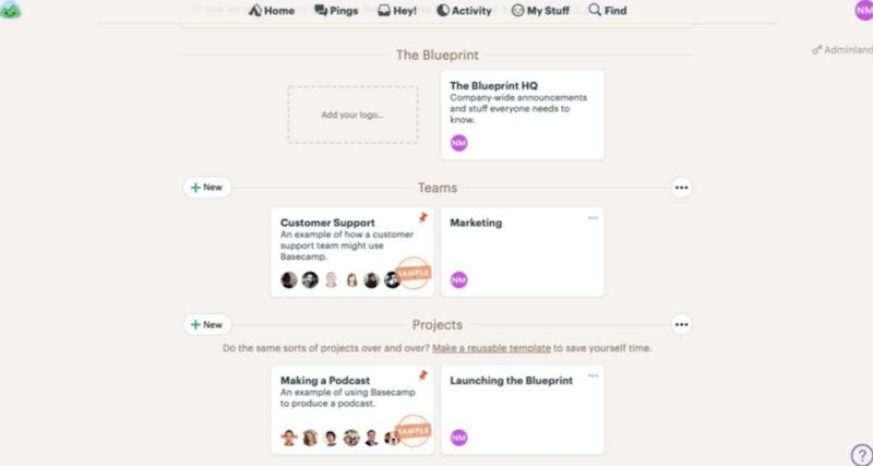 Basecamp layout